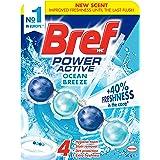 Bref Power Active Ocean Breeze, Rim Block Toilet Cleaner, 50g, Fresh