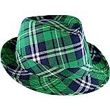 Skeleteen Irish Plaid Green Fedora - St. Patrick's Day Costume Accessories Leprechaun Hat for Men Women and Kids