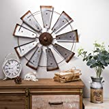 Glitzhome Metal Wooden Mounted Floating Wall Shelves Rustic Design Set of Two #7