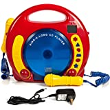 Portable Sing Along Cd/usb/sd Player Anti Skip, With 2 Microphones & Ac New