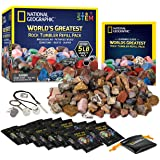 NATIONAL GEOGRAPHIC Rock Tumbler Refill – 2268g Mix of Rocks and Gemstones for Rock Tumblers, Includes Agate, Jasper, Petrifi