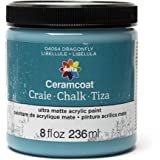Delta Creative Ceramcoat Ultra Matte Chalk Furniture & Craft Paint in Assorted Colors (8 Ounce), 04064 Dragonfly