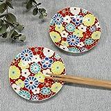 九谷焼 縁起 豆皿 梅菊模様(2枚セット) 陶器 和食器 おしゃれ食器