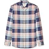 Goodthreads Amazon Brand Men's Slim-Fit Long-Sleeve Lightweight Madras Plaid Shirt
