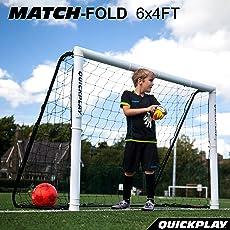 [クイックプレイ] 組み立て式 サッカーゴール 1.8m×1.2m MF6 UPVCフレーム 折りたたみ サッカー ゴール