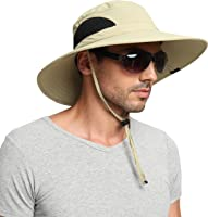 EINSKEY Sun Hats for Men, Unisex UV Protection Wide Brim Bucket Hat Foldable Waterproof Outdoor Boonie Cap for Safari...