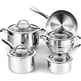 Cooks Standard 2492 9-Piece Classic Stainless Steel Cookware Set Silver