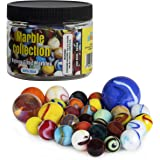 My Toy House Glass Marbles with Portable Container (Assorted Sizes and Colors)