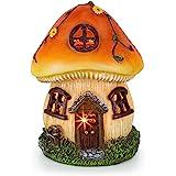 VP Home Mushroom Fairy House Solar Garden Light