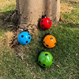 ALLADINBOX 4Pcs Metal Ladybug Wall Art Decor Nature Inspired Sculptures Insect Decoration for Outdoor Backyard Porch Home Pat