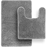 Tafts Bathroom Rugs and Mats Sets, Ultra Soft Chenille Microfiber, Absorbent Non-Slip Machine Washable Shaggy Rugs, Super Plu