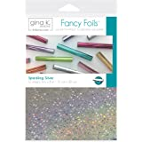 "Gina K. Designs for Therm O Web Sparkling Silver Gina K Designs Fancy Foil 6""X8"" 12/Pkg, Count"
