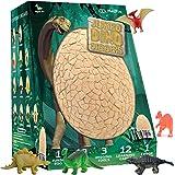 Me&You Jumbo Dino Egg Dig Kit for Kids - Break Open The Jumbo Egg and Discover 12 Cute Dinosaurs - Dinosaur Toys Archaeology