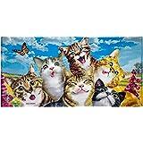 Dawhud Direct Selfie Cotton Beach Towel (Cats)