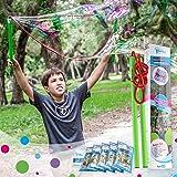 WOWMAZING Giant Bubbles Kit Plus - Great Value - Big Bubbles kit Including Big Bubble Wand and Giant Bubble Solution Concentr