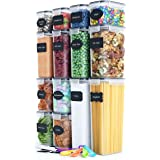 Fiyobo BPA Free Food Storage Containers with Airtight Lids,Leak-Proof Bulk Food Canister Set of 14 for Kitchen & Pantry Organ