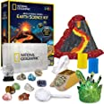 NATIONAL GEOGRAPHIC Earth Science Kit - Over 15 Science Experiments & STEM Activities for Kids, Includes Crystal Growing Kit,