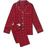 Noble Mount Twin Boat Womens 100% Cotton Lightweight Flannel Pajama Sleepwear Set