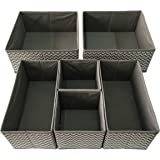Sodynee SCD6SST Foldable Cloth Storage Box Closet Dresser Organizer Cube Basket Bins Containers Divider with Drawers for Unde