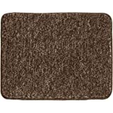 mDesign Soft Microfiber Polyester Non-Slip Small Rectangular Spa Mat Plush Water Absorbent Accent Rug for Bathroom Vanity Bat