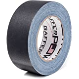 Real Premium Grade Gaffer Tape by GafferPower Made in The USA Black (Also) 2 Inch X 30 Yards Heavy Duty Gaffer's Tape
