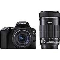 Canon デジタル一眼レフカメラ EOS Kiss X10 ダブルズームキット ブラック EOSKISSX10BK-W…