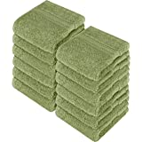 Utopia Towels Premium 700 GSM Washcloths Towel Set(12 Pack Sage Green 12 x 12 Inches) Multi-Purpose Extra Soft Fingertip Towe