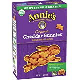 Annie's Cheddar Bunnies Baked Snack Crackers 7.5 oz (Pack of 12)