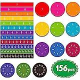 156pcs Magnetic Rainbow Fraction Tiles Circles