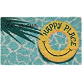 "Liora Manne NTR12220804 Natura Summer This is Our Happy Plac Outdoor Welcome Coir Door Mat, 18"" X 30"", This is Our Place"