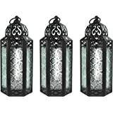 Decorative Candle Lanterns for Living Room Decor, Medium, Clear, Set of 3