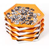 Becko Stackable Puzzle Sorting Trays Jigsaw Puzzle Sorters with Lid Puzzle Accessory for Puzzles Up to 1500 Pieces, 8 Hexagon
