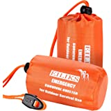 EILIKS Emergency Sleeping Bag Camping Bivy Sacks, Waterproof Lightweight Thermal Life Tent Emergency Survival Shelter, Surviv