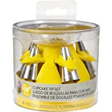 Wilton Cupcake Piping Tip Set with Silicone Stand, Yellow, 7 Pieces