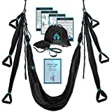 Yoga4You Aerial Yoga Swing Set - Yoga Hammock Swing - Trapeze Yoga Kit - 2 Extension Straps - Wide Flying Yoga Inversion Tool
