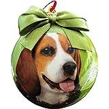 Beagle Christmas Ornament Shatter Proof Ball