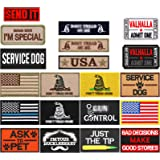 20 Pieces Tactical Morale Embroidery Patch Set Uniform Patch Funny Military Patch for Caps Bags Vests Military Uniforms, 20 S