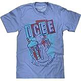 Tee Luv ICEE Polar Bear Logo T-Shirt by Soft Touch ICEE Faded Logo Shirt