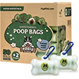 Pogi's Poop Bags - 50 Rolls (750 Dog Poo Bags) +2 Dispensers - Scented, Leak-Proof, Earth-Friendly Poo Bags for Dogs
