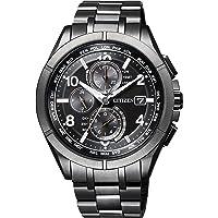 [シチズン] 腕時計 アテッサ Eco-Drive エコ・ドライブ電波時計 ブラックチタンシリーズ ダイレクトフライト…