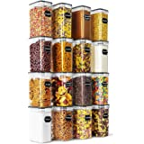 Airtight Food Storage Containers Set of 16 - Wildone BPA Free Cereal & Dry Food Storage Containers 2L / 8.45 Cups for Sugar,