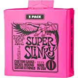 Ernie Ball P03223 Super Slinky Nickel Wound Electric Guitar Strings - 9-42 Gauge, 3 Pack, Light
