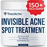 TreeActiv Invisible Acne Spot Treatment, Mess-Free Fast-Acting Formula, Works Under Makeup, Tea Tree, Peppermint Essential Oi