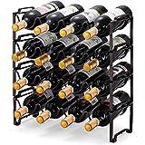 Simple Trending 4-Tier Stackable Wine Rack, Standing Bottles Holder Organizer, Wine Storage Shelf, Towel Rack for Kitchen Pan