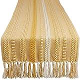 DII Farmhouse Braided Table Runner, 15x72, Honey Gold