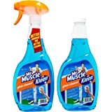 Mr Muscle Kiwi Kleen Glass Cleaner and refill, Superactive, 500 milliliters