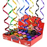 """STAR 3/16"""" and 3/8"""" Holographic Sparkles Curling Ribbon in 12 Colors 
