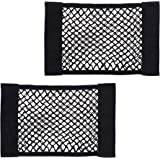 Cosmos Universal Mesh Cargo Net Wall Sticker Organizer Pouch Bag Storage Mesh Net for Car Trunk, Pack of 2