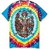 Liquid Blue Mens 11346-Mlt T Dy-XL Grateful Dead Rainbow Bertha Tie Dye Short Sleeve T-Shirt Short Sleeve T-Shirt - Multi