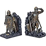 Arthurian Knight Bookend in Two-Tone Metallic (Set of 2) [Kitchen]